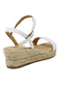 Moli Low Wedge Espadrilles | White - Aspiga