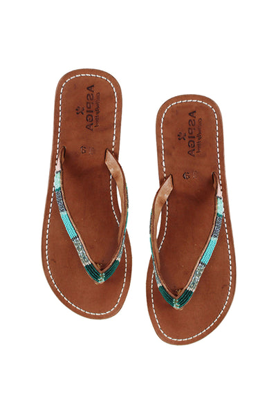 Naisha Soft Sole Sandals | Emerald