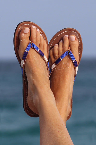 Naisha Soft Sole Sandals | Masai Blue