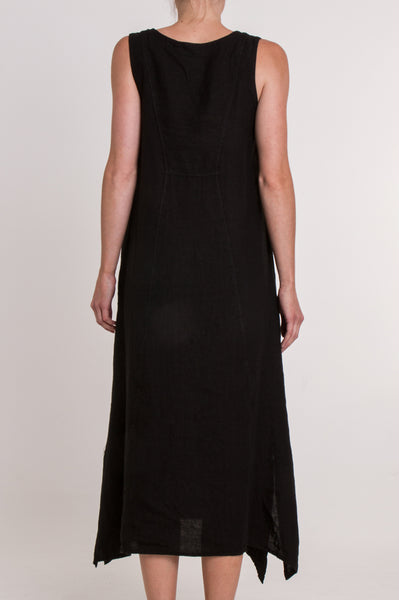 Nancy Linen Dress | Black