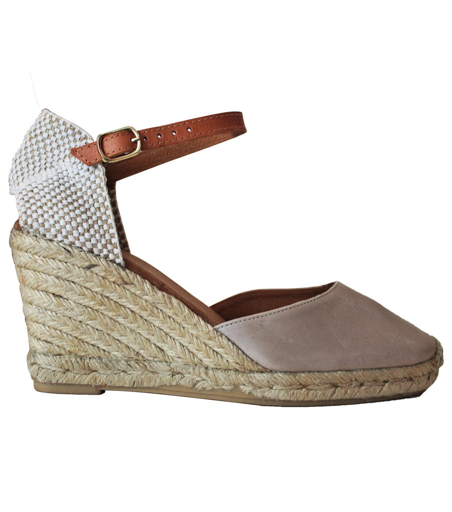 Nantes Leather Wedge Espadrilles | Light Gold