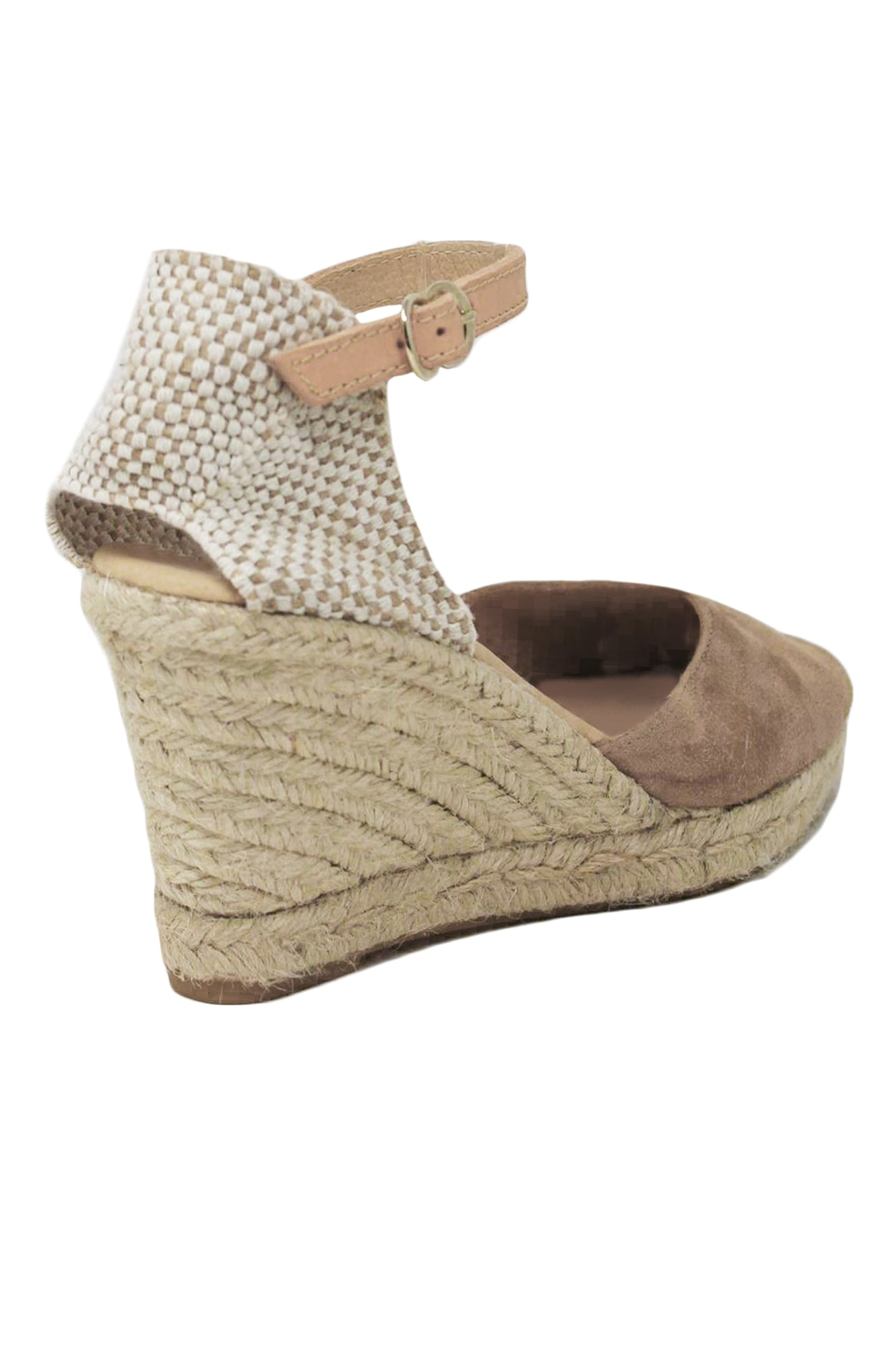 8727f1ddf07 Nantes Leather Wedge Espadrilles Almond
