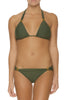 Slider Bikini top with Slider Hipster Pants by Helen Jon | Olive - Aspiga