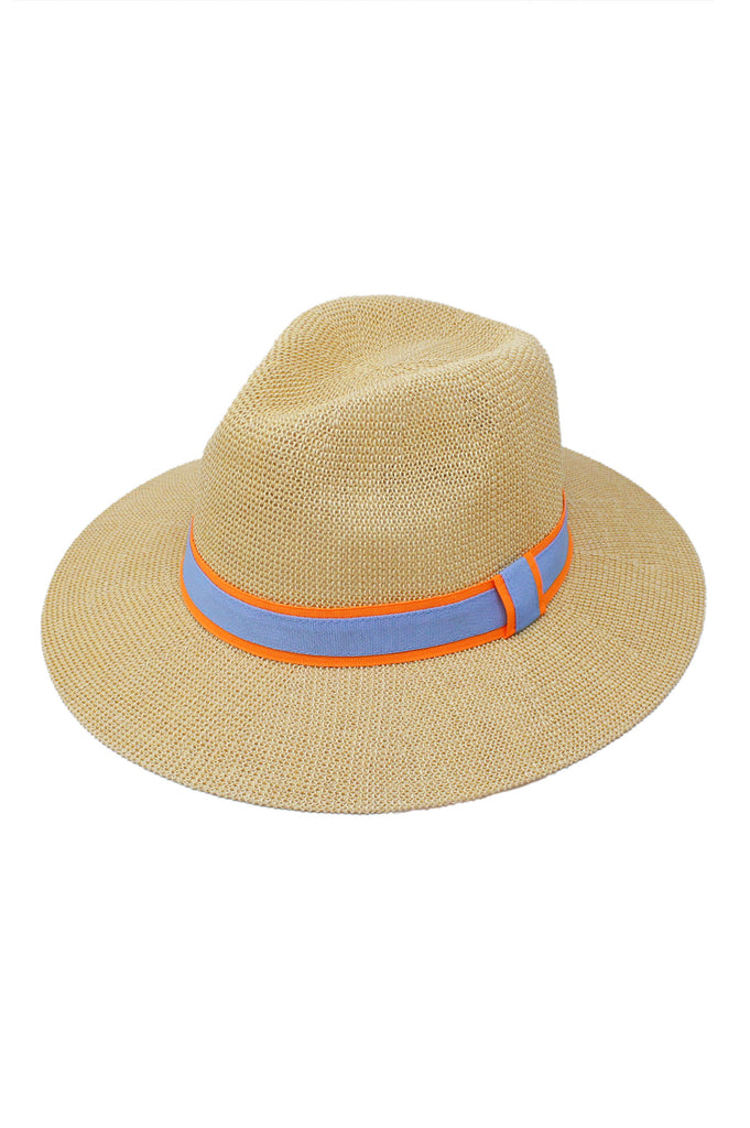 Panama Hat | Orange/Blue