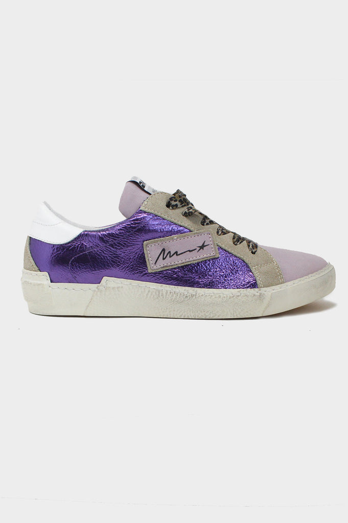 Leather Low-Top Trainers | Purple