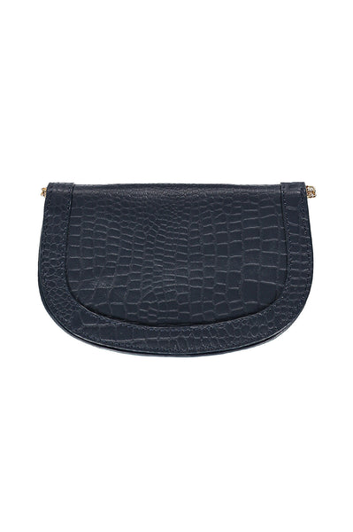 Small Crossbody Saddle Bag | Navy