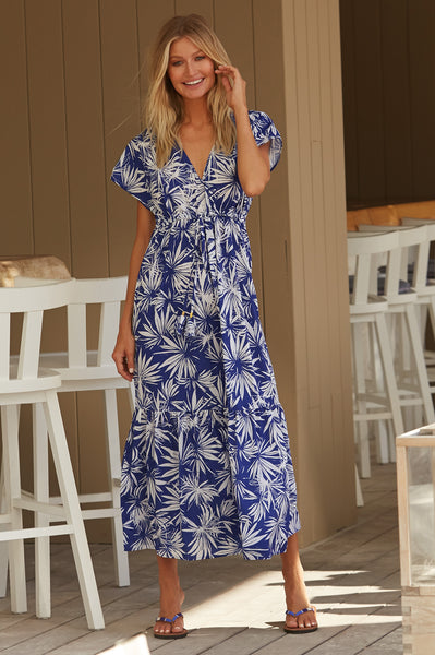 Serena Maxi Dress | Palm Blue