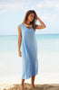 Samara Linen Maxi Dress | Powder Blue