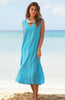 Samara Linen Maxi Dress | Turquoise