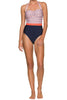 Santa Barbara Del Rey Swimsuit by Helen Jon | Coral/White/Navy
