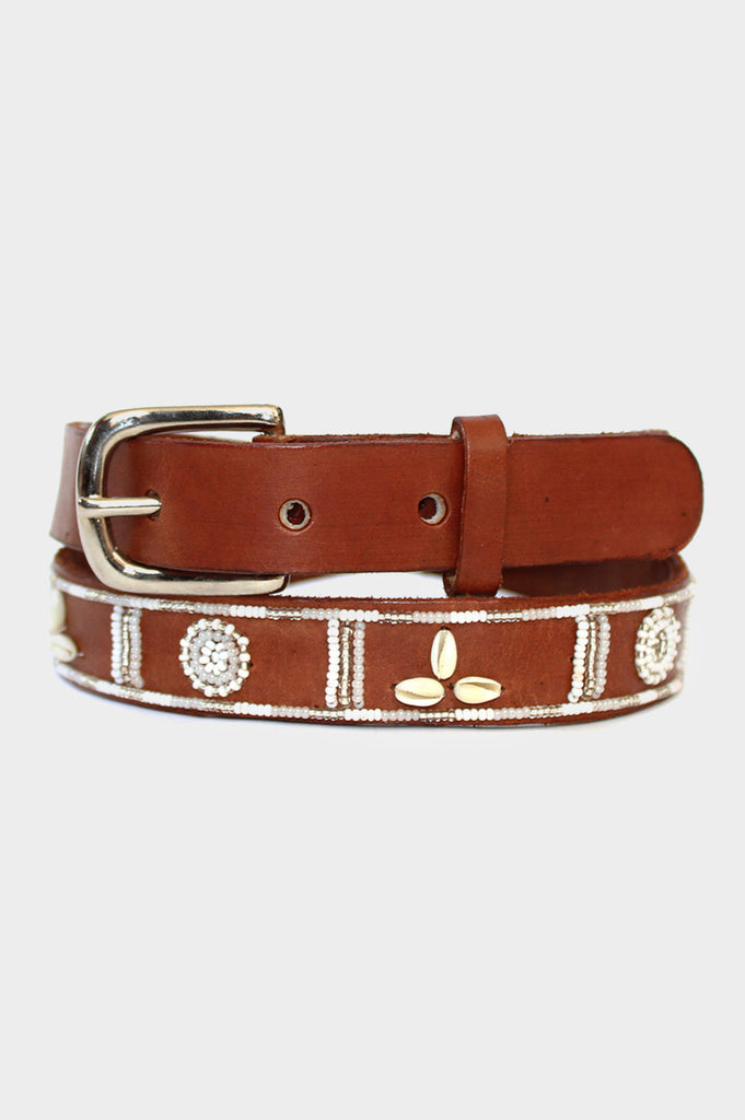Shell Leather Belt 1.25"