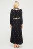 Sonia Embroidered Midi Dress | Black