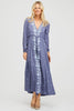 Sonia Embroidered Dress | Dusty Blue