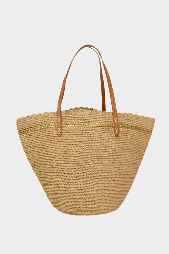 Tanala Beach Bag | Natural/Gold