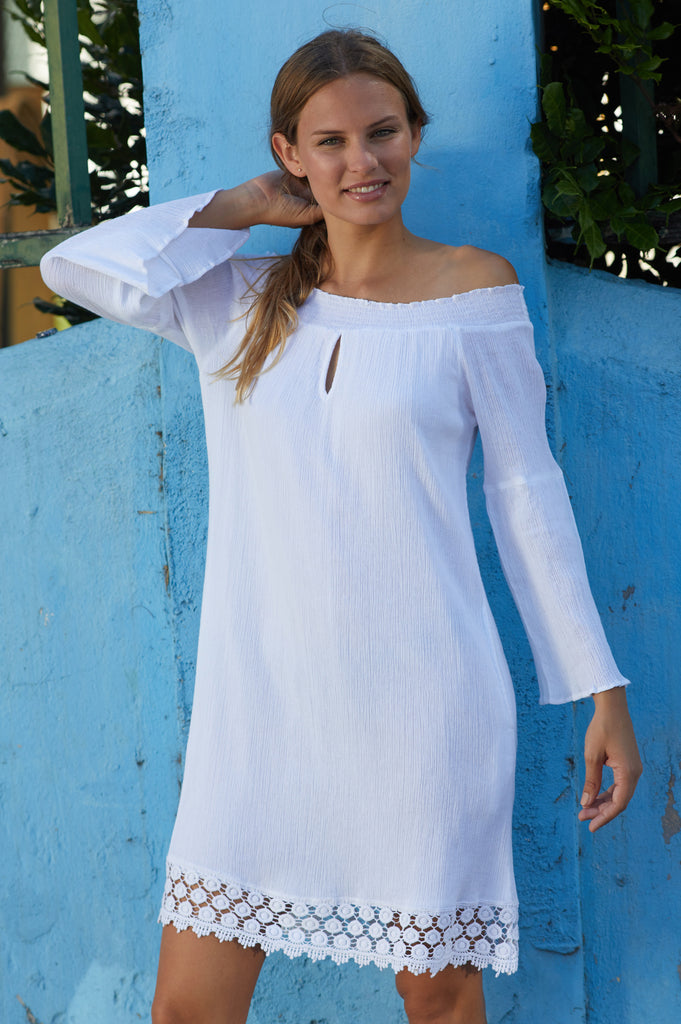 Tori Cotton Dress | White