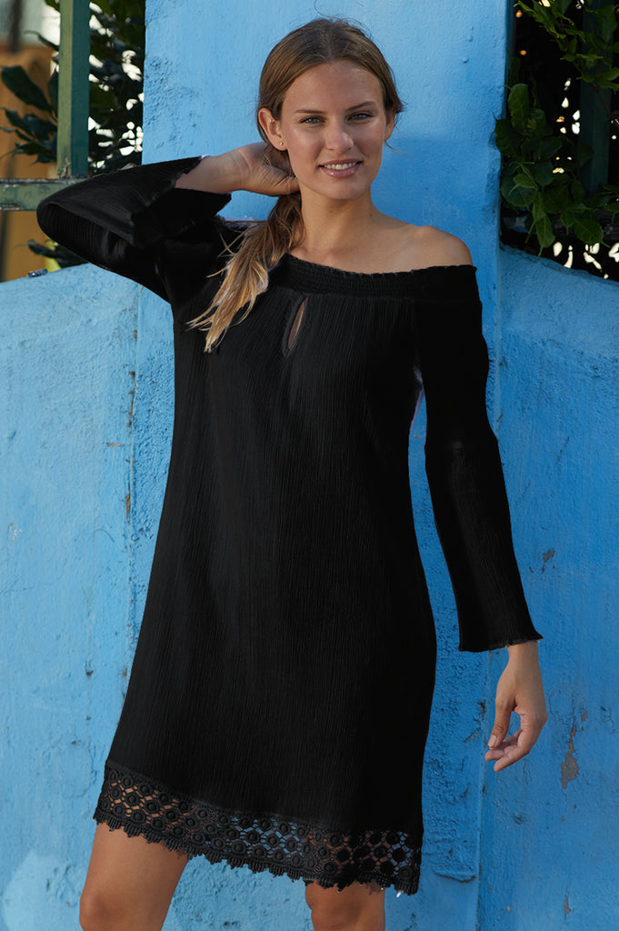 Tori Cotton Dress | Black