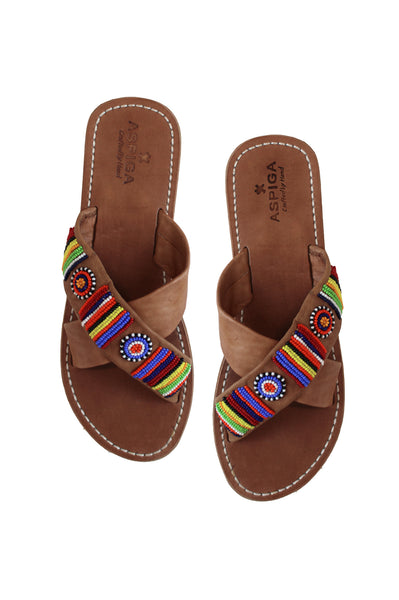Toto Cross Sandals | Multi