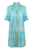Sophia Shirt Dress | Aqua Pebbles
