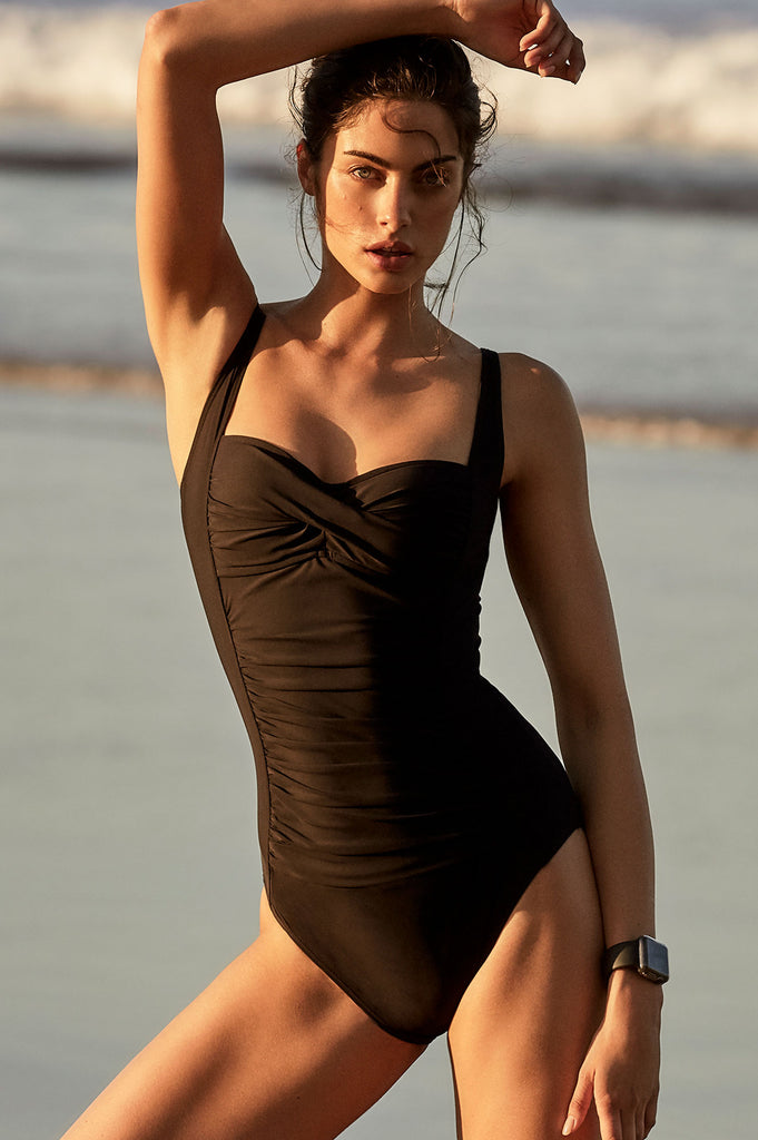 Twist Swimsuit by Moontide | Black - Aspiga