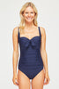Twist Swimsuit by Moontide | Navy - Aspiga
