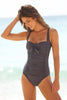 Twist Swimsuit by Moontide | Charcoal/Grey