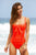 Twist Swimsuit by Moontide | Orange - Aspiga