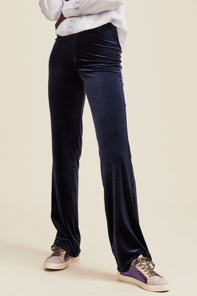 Maisie Velvet Trousers | Navy