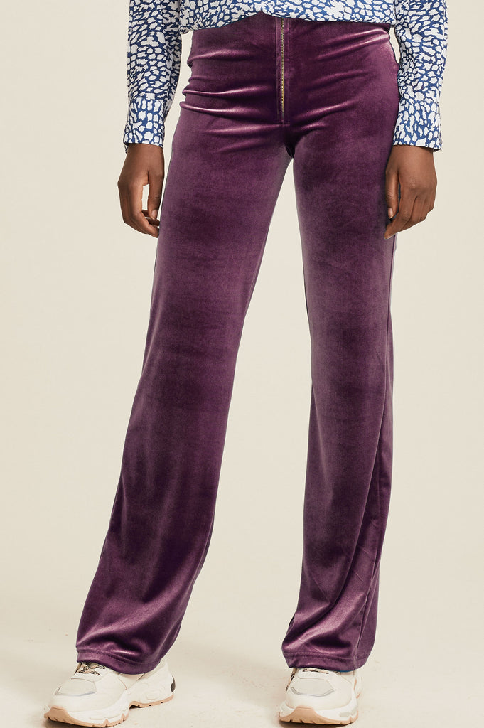 Maisie Velvet Trousers | Purple