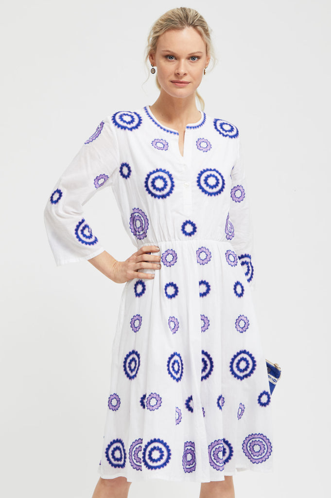 Achat Dress by Nimo with love | White/Purple - Aspiga