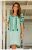 Agadir Embroidered Dress | Green