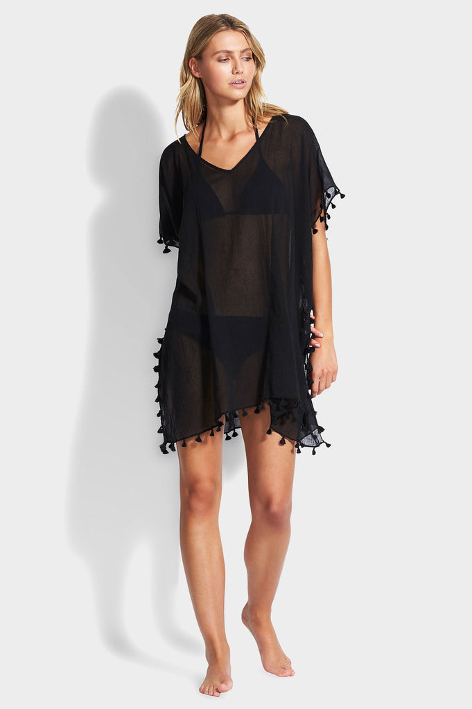 Amnesia Kaftan by Seafolly | Black - Aspiga