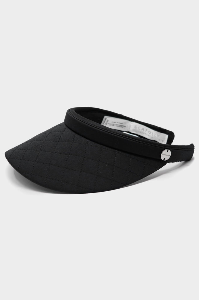 Quilted Visor by Seafolly | Black