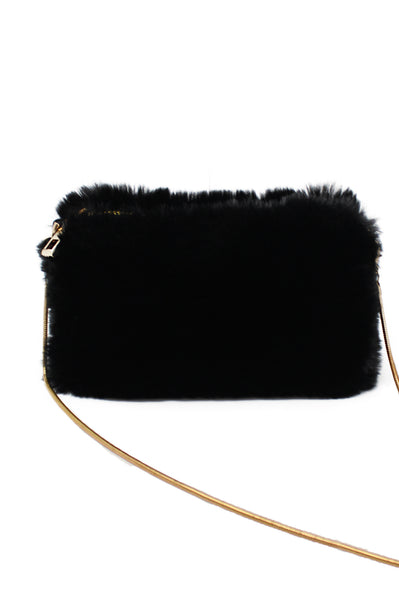 Faux Fur Clutch/Crossbody | Black