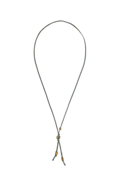 Brittany Ribbon Necklace by Chan Luu | Blue