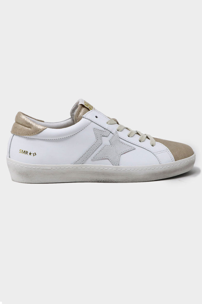 Chica Star Trainers | White/Gold - Aspiga