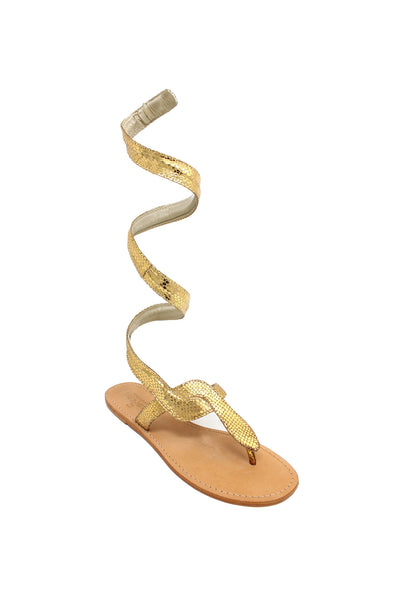 Cobra Wrap Sandals | Gold