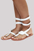 Cobra Wrap Sandals | White - Aspiga