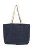 Coral Jute Beach Bag | Navy/White