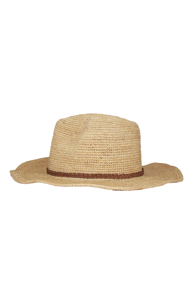 Golden Cowboy Hat by Ivahona | Natural/ Brown