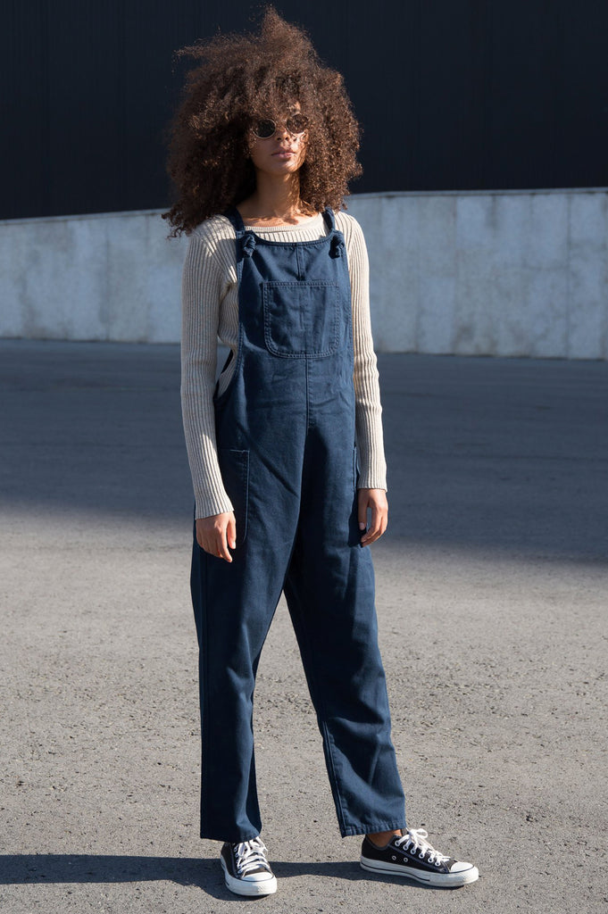 Organic Cotton Dungarees by UCM | Navy - Aspiga
