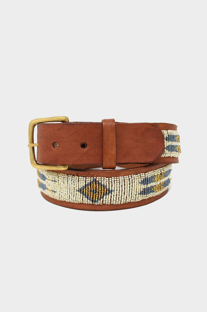 Feather Leather Belt | Light Gold