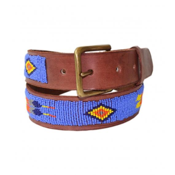 Feather Belt | Maasai Blue - Aspiga
