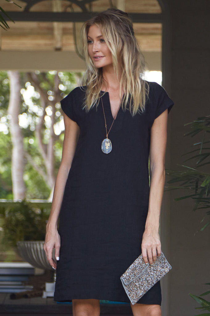 Dori Linen Dress | Black
