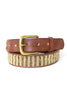 Full Beaded Belt | Bronze/Beige
