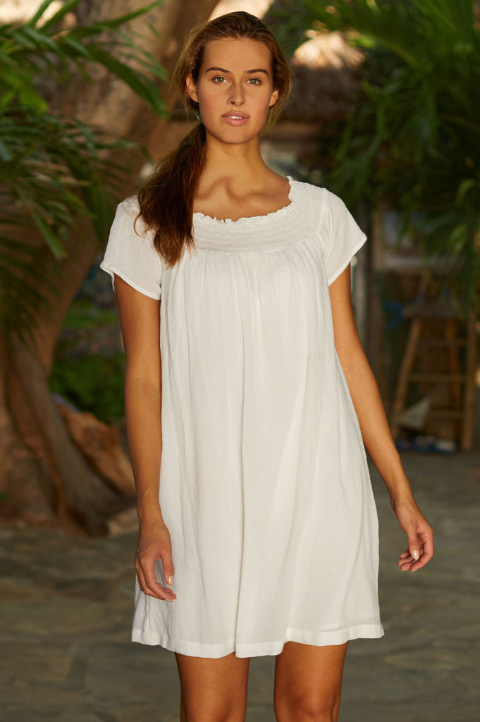 Gabby Dress | White - Aspiga