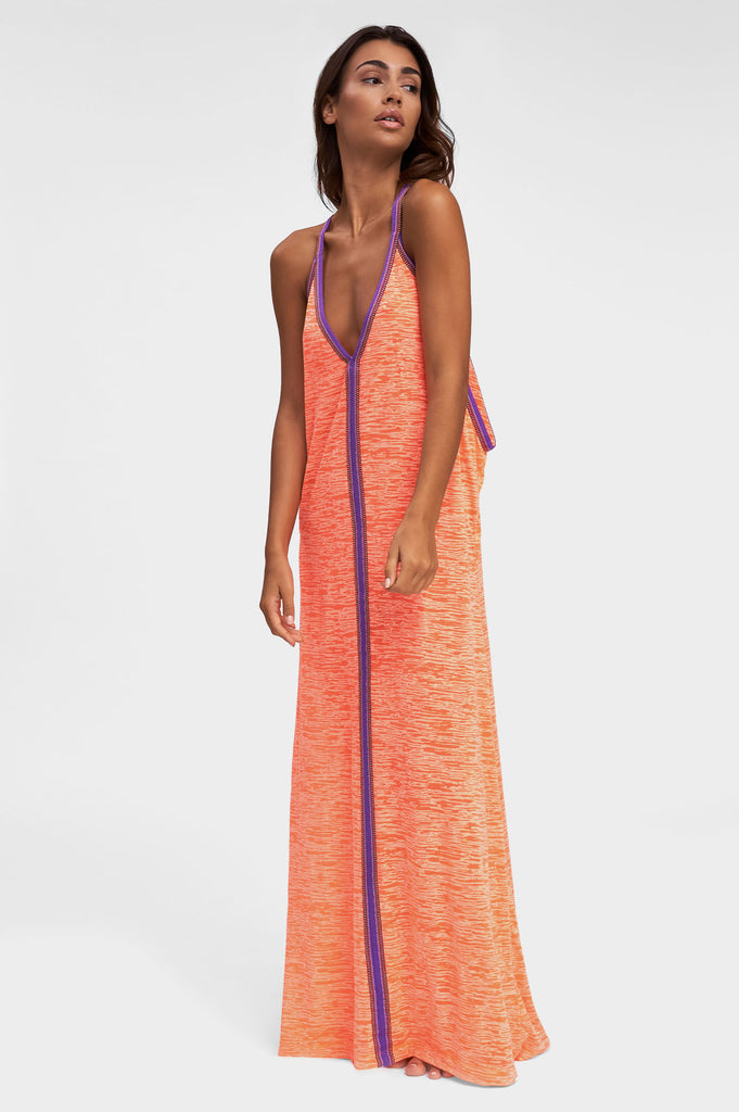 Inca Sundress | Coral/Purple