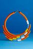 Isolo Maasai Beaded Necklace | Orange - Aspiga