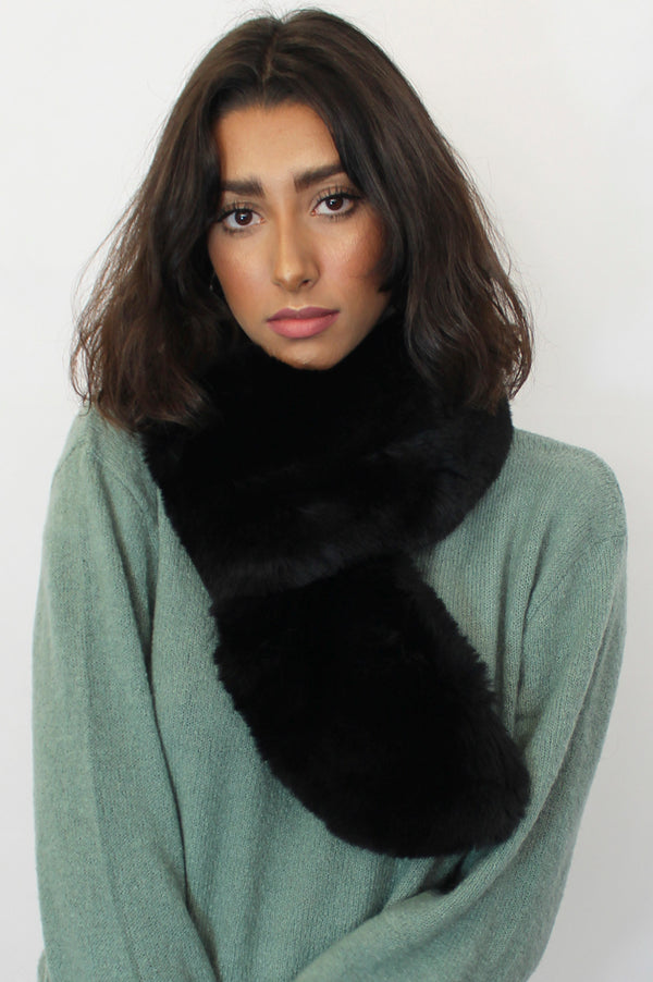 Image: Faux-Fur-Collar-Black