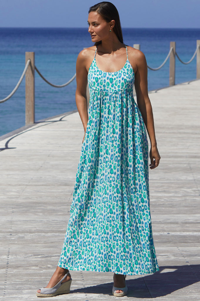 Lenu Maxi Dress | Simba Sea Green - Aspiga