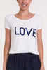 LOVE Sequins T-Shirt | Marina Blue